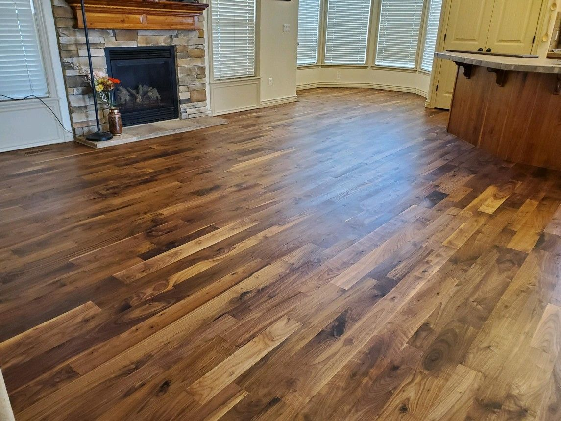 Walnut Flooring Refinished With