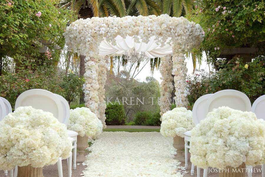 All white wedding aisle outdoor wedding aisle decoration all white wedding aisle outdoor junglespirit Image collections