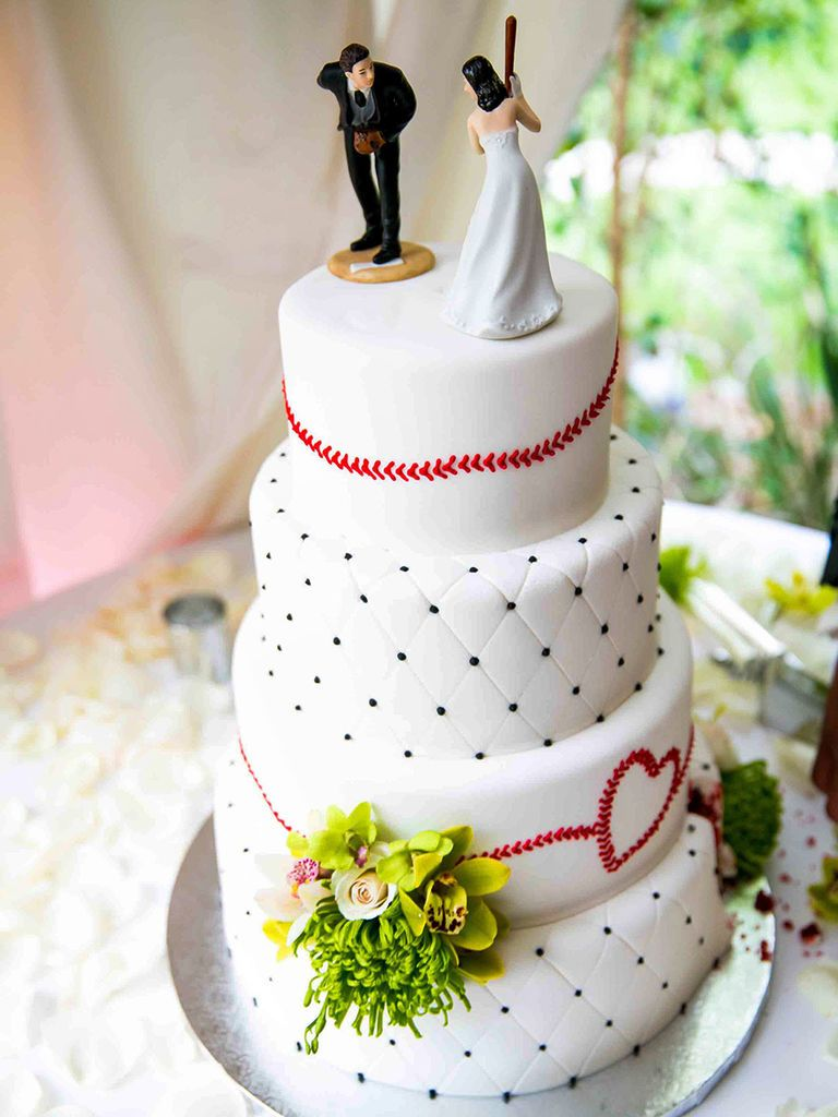 15 Funny Cake Toppers For The Lighthearted Couple Funny Wedding Cake Toppers Baseball Wedding Cakes Funny Wedding Cakes