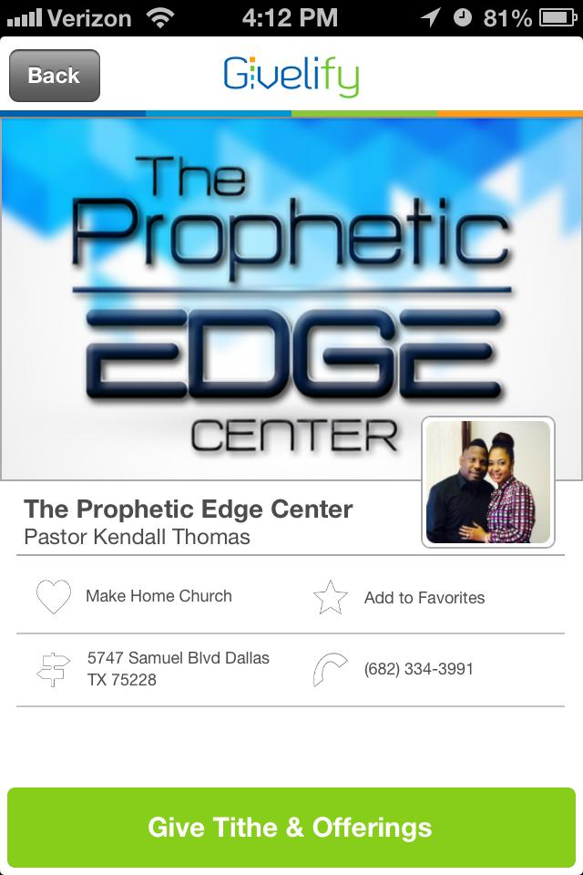 The Prophetic Edge Center in Dallas, Texas