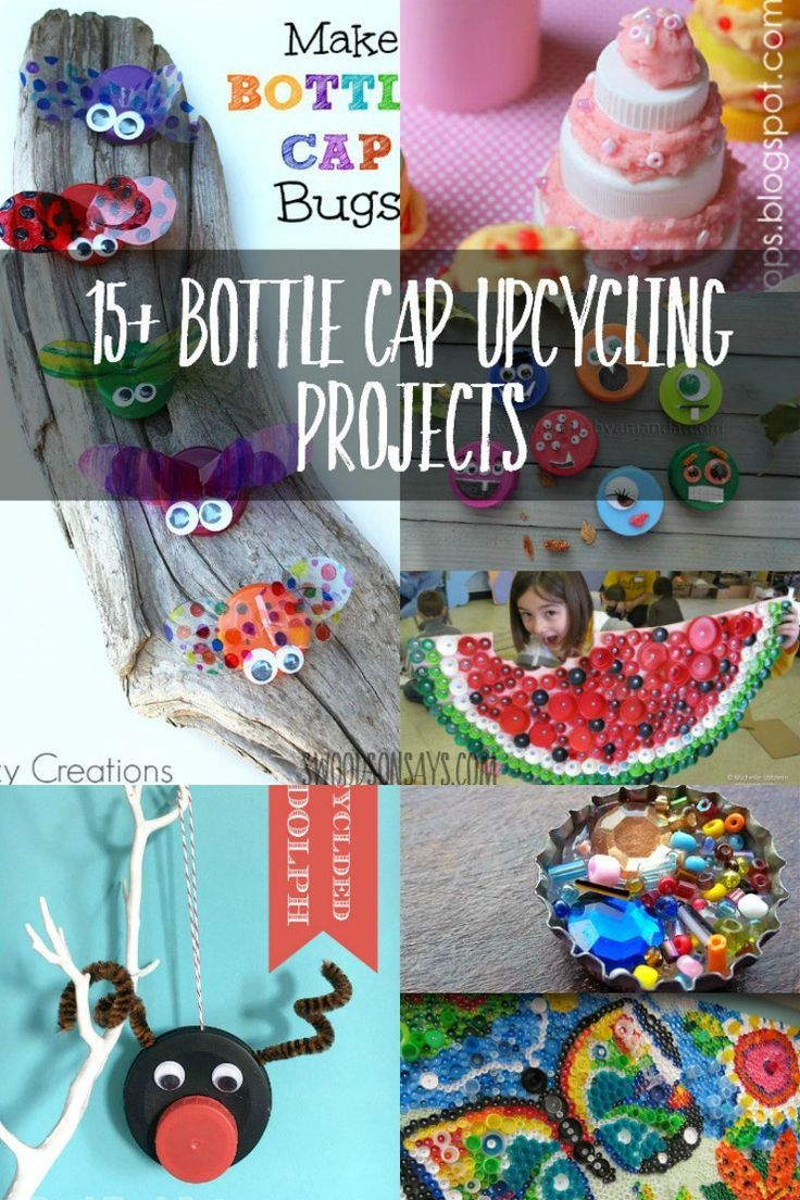 Craft Ideas That Upcycle Plastic Bottle Caps Preschool Playtime