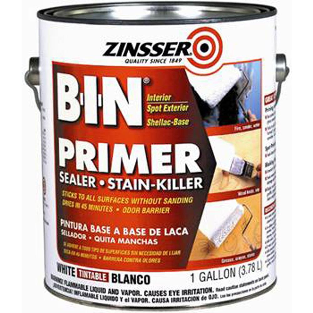Zinsser 1 Gal B I N Shellac Based White Interior Primer And Sealer 00901 The Home Depot Primer Sealer Interior Primer Exterior Primer