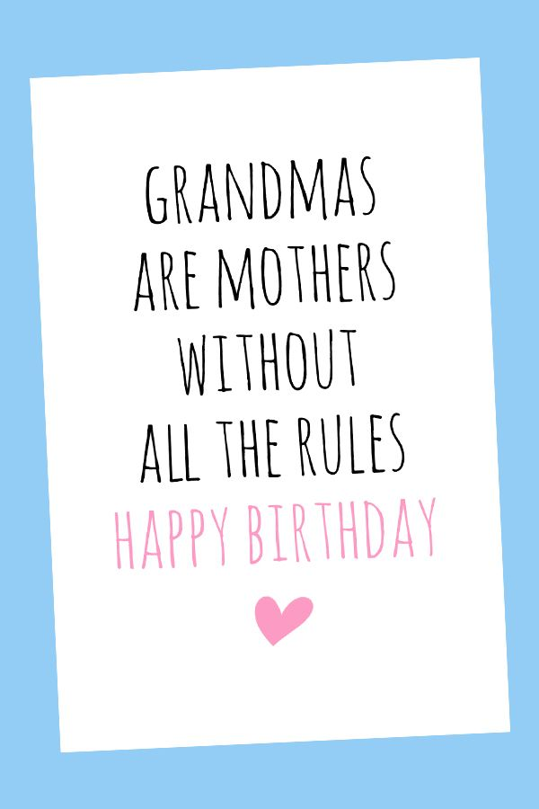 Funny Birthday Cards For Grandma : funny, birthday, cards, grandma, Grandma, Birthday, Card,, Digital, Printable, Cards,