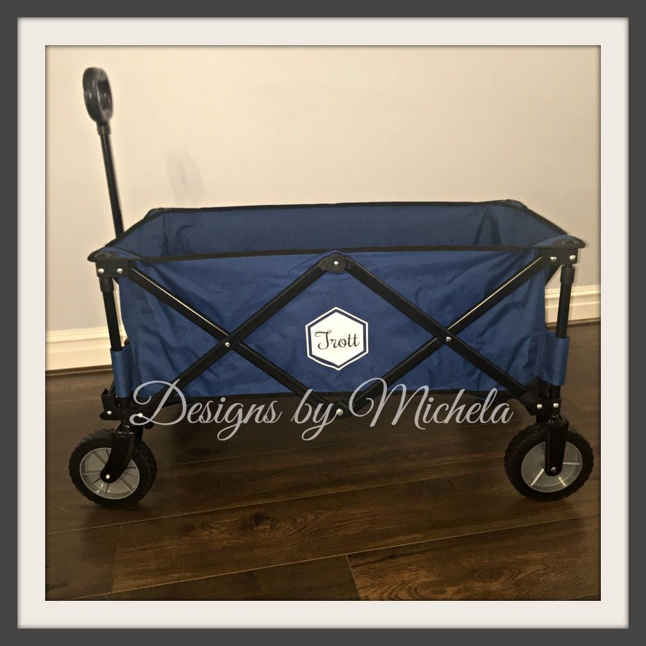 Monogrammed Collapsible Folding Wagon Gf065 For The Lake Circuit Board Wall Clock By Monogramit New Business Ideas Baseball Boys