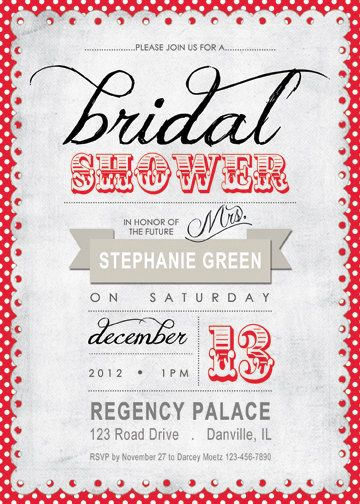 bridal shower invitation red black white by littleowlbows 1500 kathryn marcucci i love love love this one