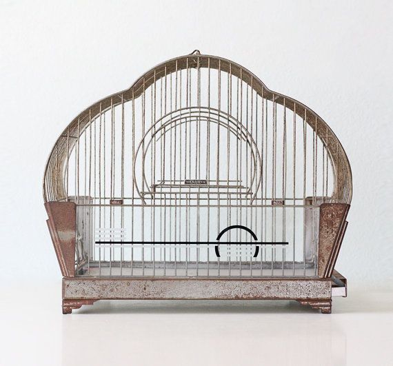 Vintage Hendryx Birdcage Art Deco By Bellalulu On Etsy Birdcage More Pins Like This At Fosterginger Pinterest Vintage Bird Cage Antique Bird Cages Bird Cage