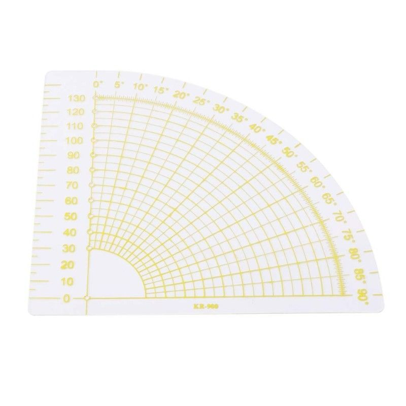 Fan Shaped Tailor Sewing Tool Quilting Patchwork Scrapbook Foot Seam Ruler DIY
