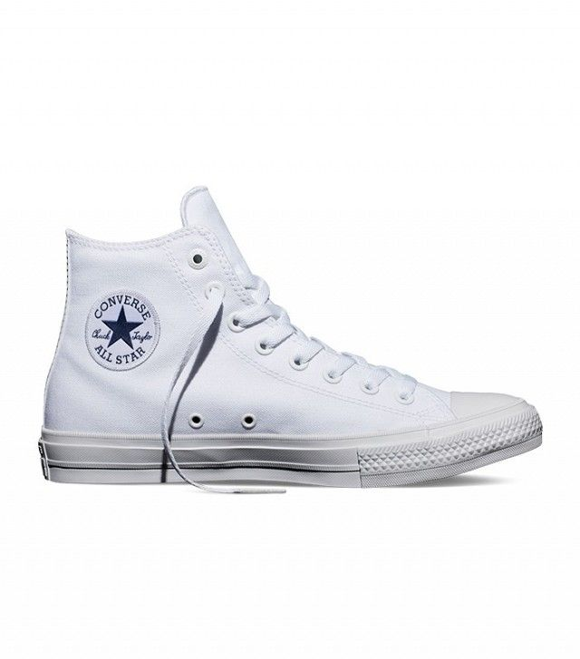 converses hautes blanches