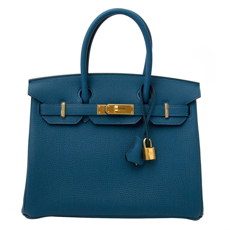 d904d7e7af Brand New Hermes Birkin 30 Blue Cobalt Togo GHW