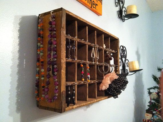 Vintage Coke Crate Jewelry Display by MegsSunFlower on