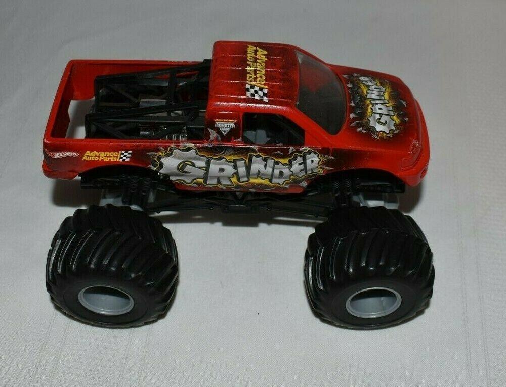Hot Wheels Monster Jam Advance Auto Parts Grinder 1 64 Scale Truck Hotwheels In 2020 Hot Wheels Monster Jam Hot Wheels Monster Jam