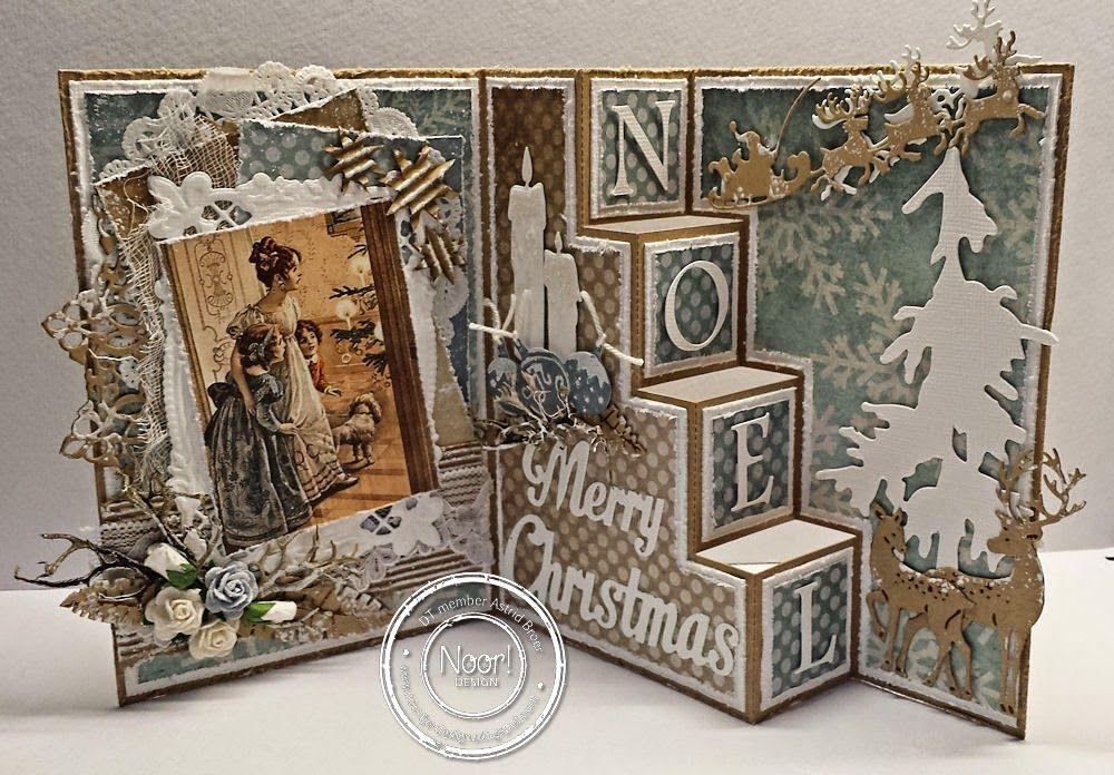 Challenge Noor! Design ... trapjeskaart !!! | Cards by Astrid | Bloglovin'