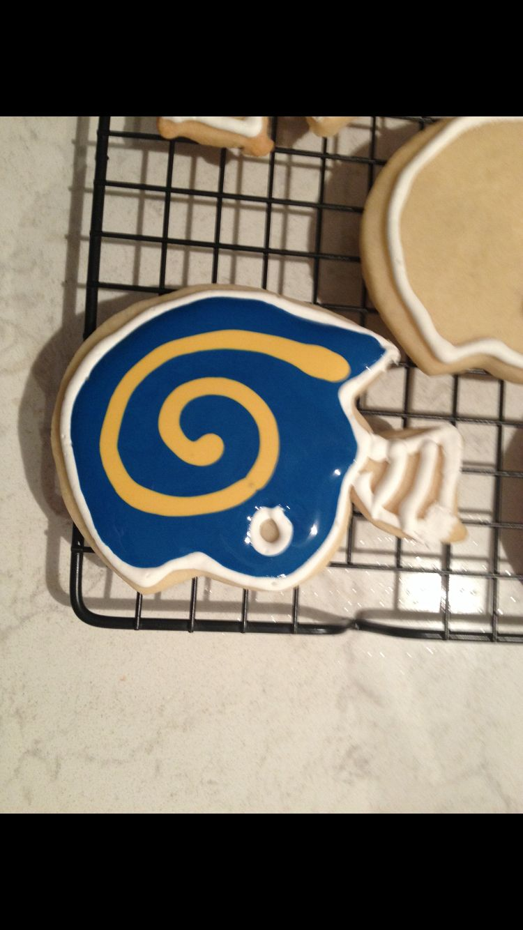 Rams football helmet cookies Rams football, Football