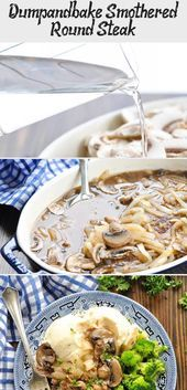 Photo of Dump-and-bake Smothered Round Steak-Dump-and-bake Smothered …