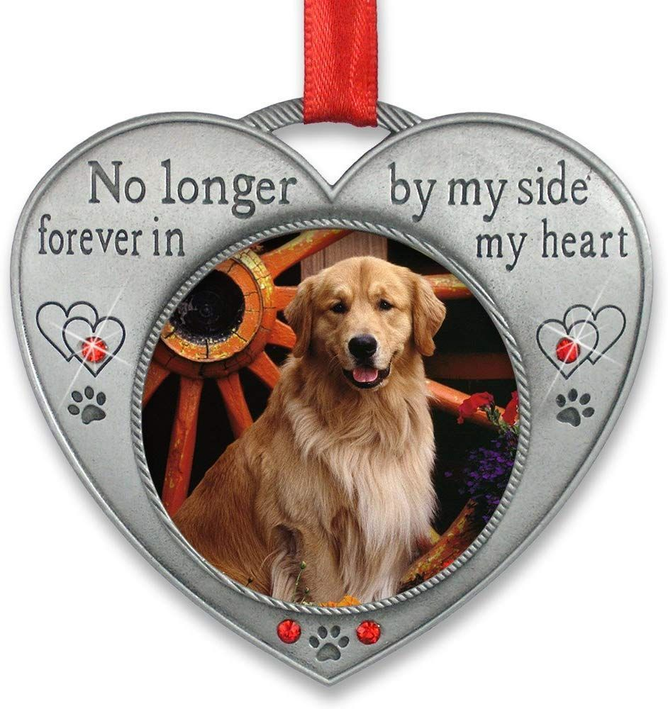 Pet Memorial Picture Ornament No Longer by My Side