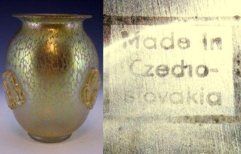 Loetz Papillon Vase With Square Mark Johann Loetz Pinterest