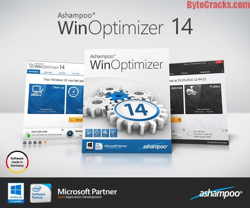 Ashampoo WinOptimizer 14.00.02 Crack Keep your Windows clean and running efficiently. Download WinOptimizer 14 serial key 2016 full keygen.