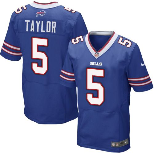 buffalo bills 5 tyrod taylor royal blue team color nfl elite jersey