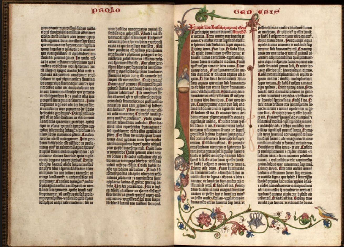 the gutenberg bible was printed on hemp paper in 1456