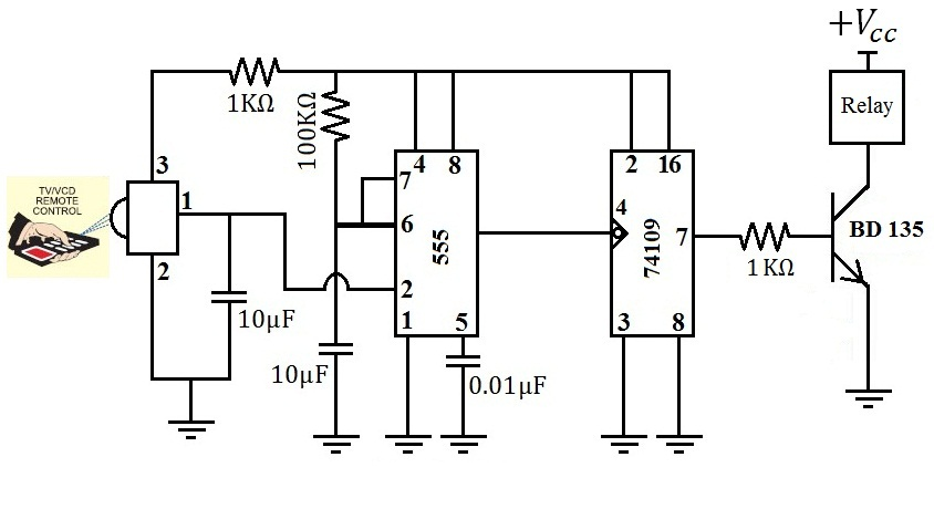 wireless remote control switch additional device circuit control