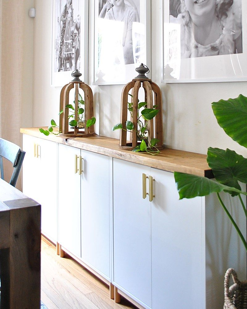 Rooms: Turn Ikea Cabinets Into A Sideboard