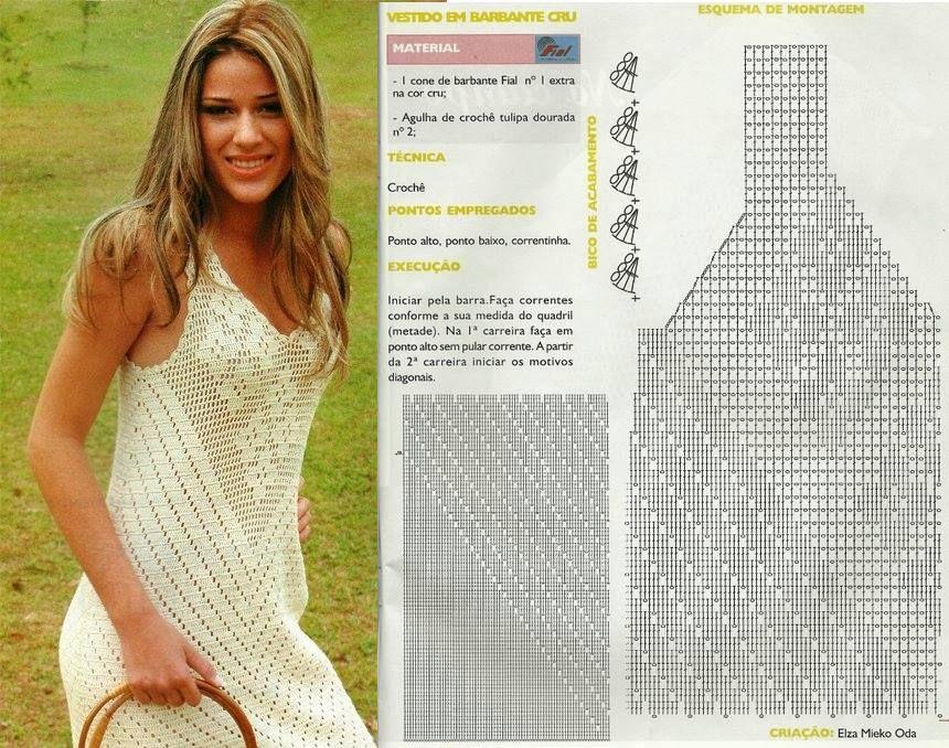 Vestido fresco | Crochet | Pinterest | Vestidos frescos, Vestiditos ...
