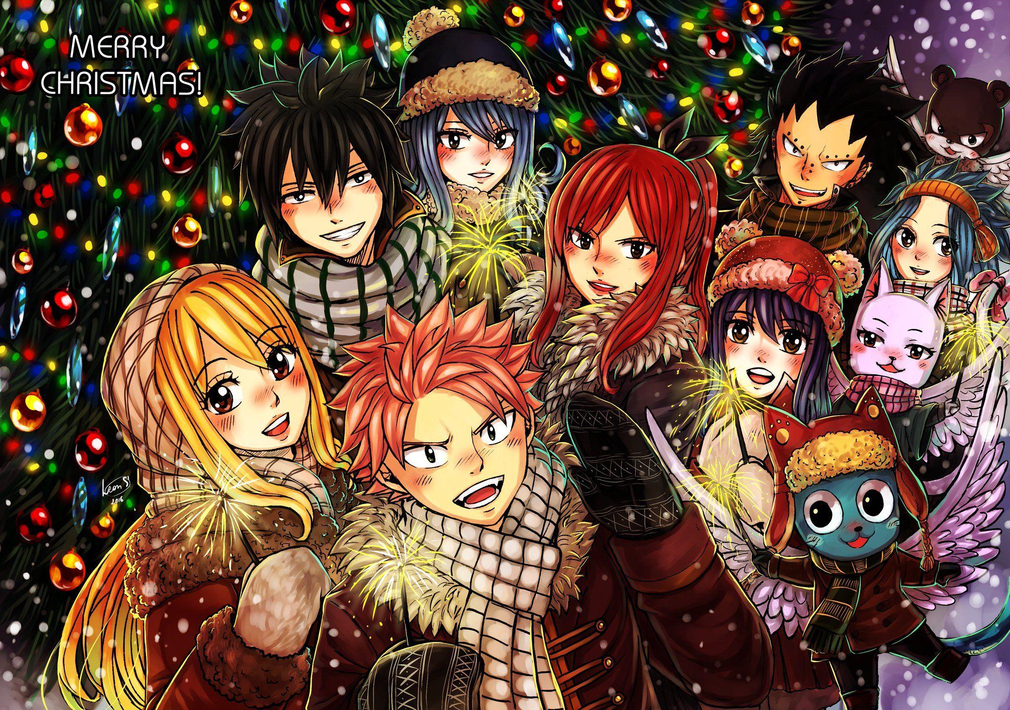 Znalezione obrazy dla zapytania wesołych świąt anime