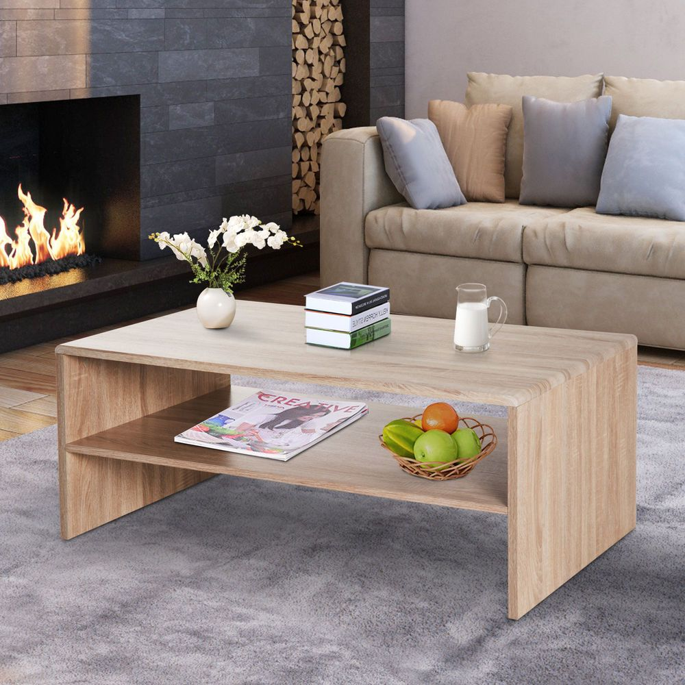 40 2 Tier Side Coffee Table Rectangular Desk Stoarge Rack Living Room 29 99 End Date Thursday Dec 13 2018 0 04 06 Pst Buy It Now For [ 1000 x 1000 Pixel ]