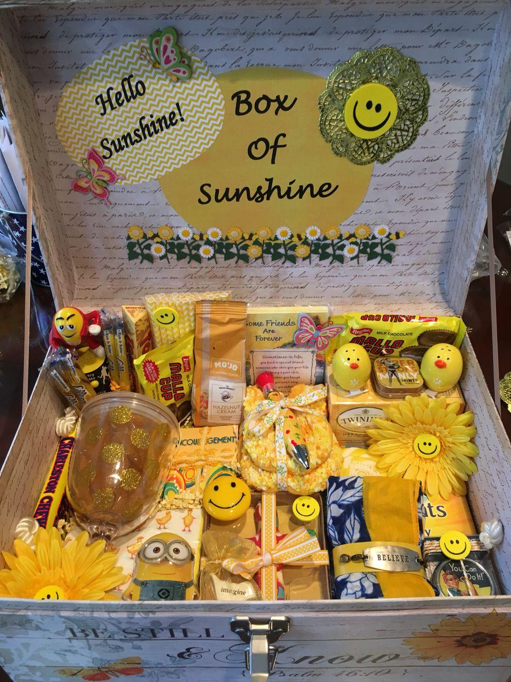 Box of sunshine sunshine gift box sunshine gift diy
