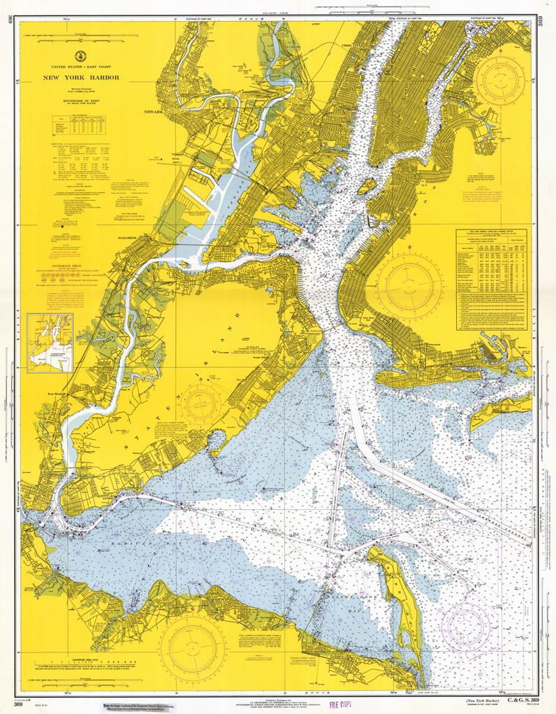 New York Harbor Map  New Cartographies Pinterest - New york map geography