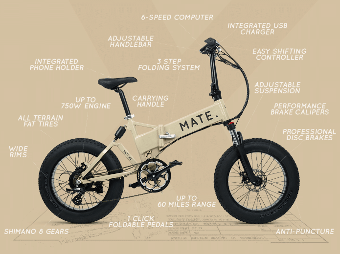 Mate X Launching New Foldable E Bike 60 Miles At 20mph Per Charge