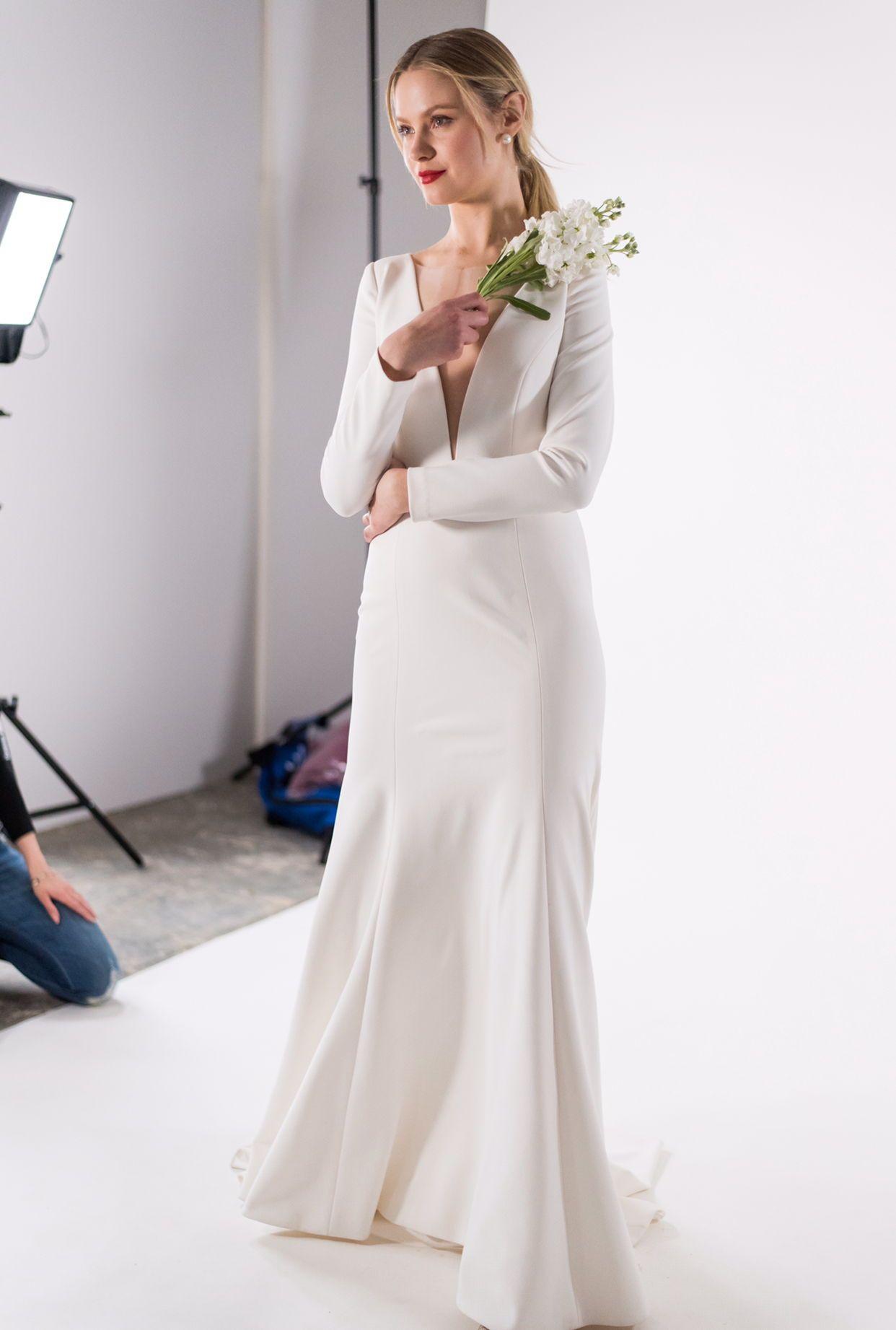 e5fa3c5563e So sleek! Jenny by Jenny Yoo bridal