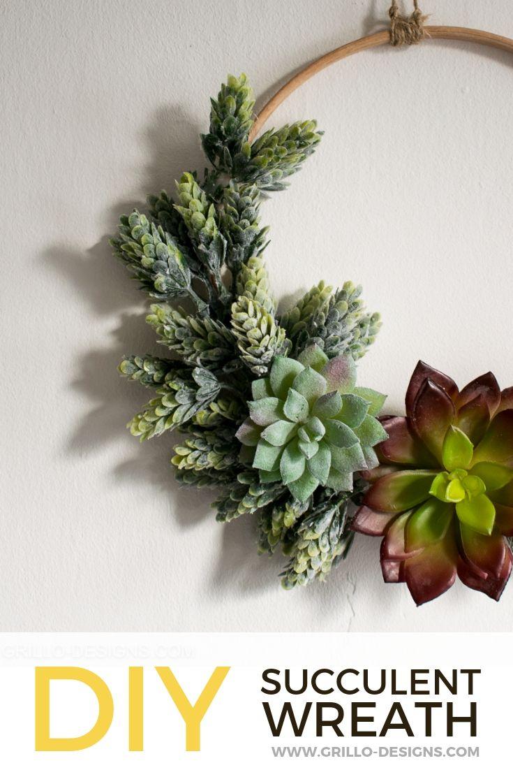 Photo of DIY Minimalist Succulent Wreath Tutorial • Grillo Designs