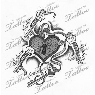 Childrens Names | childrens names tattoo #95201 | CreateMyTattoo.com #Quotes