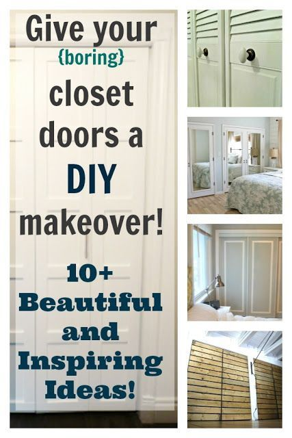 Incroyable The Creek Line House: DIY Closet Doors   Beautiful And Inspiring Ideas!  Change The Door Knobs On The Closets To Clear Crystal Looking Knobs For  Glam Look