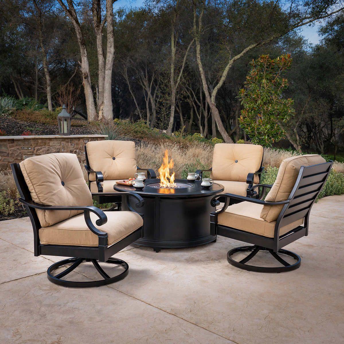Verena 5 Piece Fire Chat Set Costco Patio Furniture Outdoor
