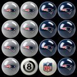 New England Patriots NFL Billiard Ball Set #http://www.pinterest.com/sportsfansplus/
