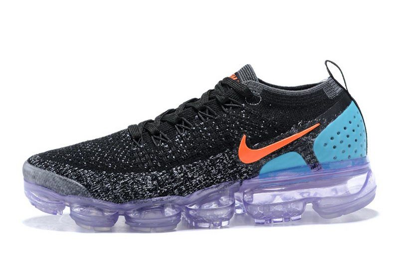 sports shoes 9526f 8bbd1 Womens Nike Air Vapormax Flyknit 2 Black Orange Blue