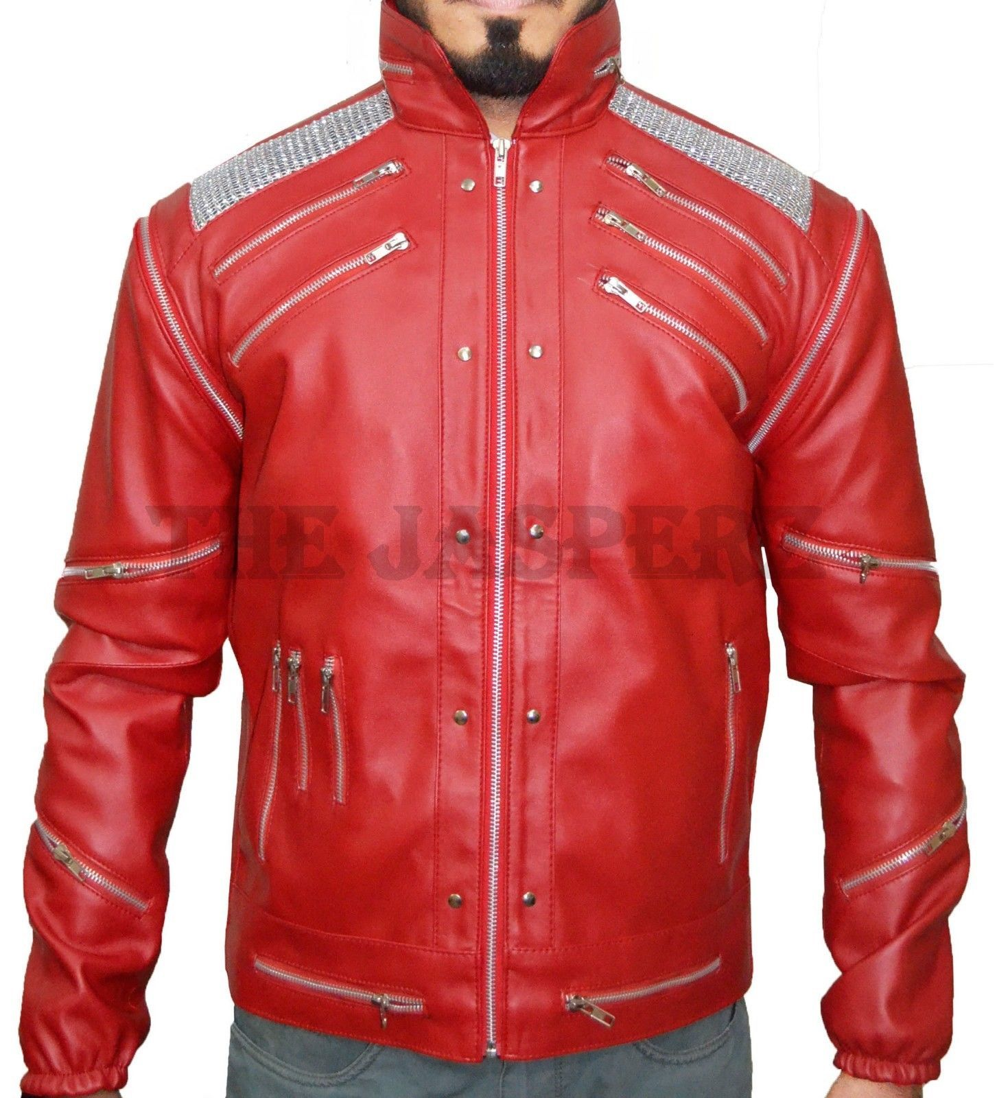 Details about MJ Beat it, Michael Jackson Thriller Red