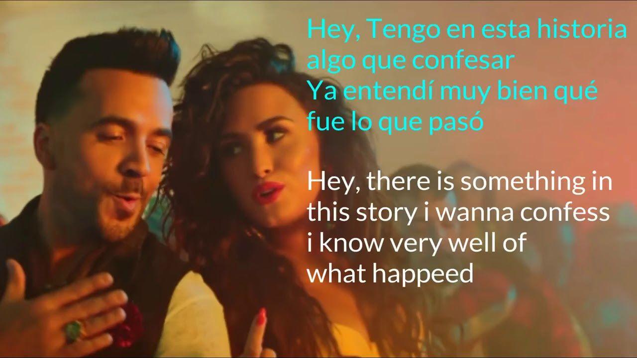 Luis Fonsi Demi Lovato Echame La Culpa Song Lyrics English Spanish Youtube