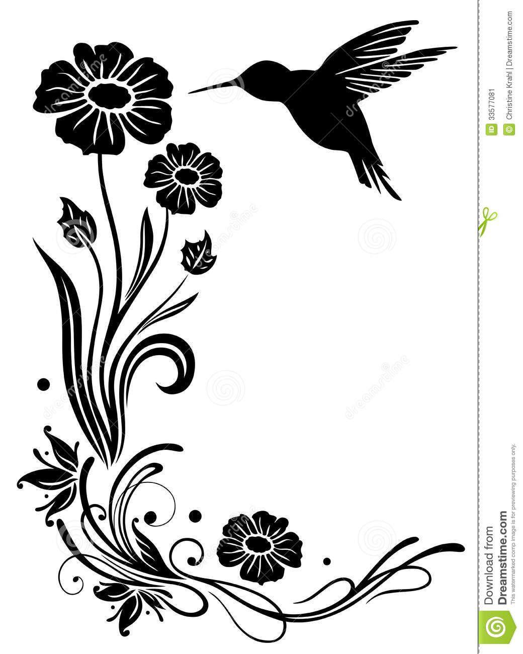 Hummingbird Flowers Stock Image