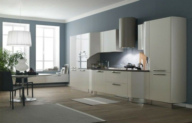 Pintura Cocina | Cocinas Pintadas Con Los Colores De Moda 50 Ideas Cocina Colores