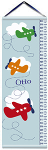 Airplanes Personalized Boys Growth Chart  Boys Growth Chart