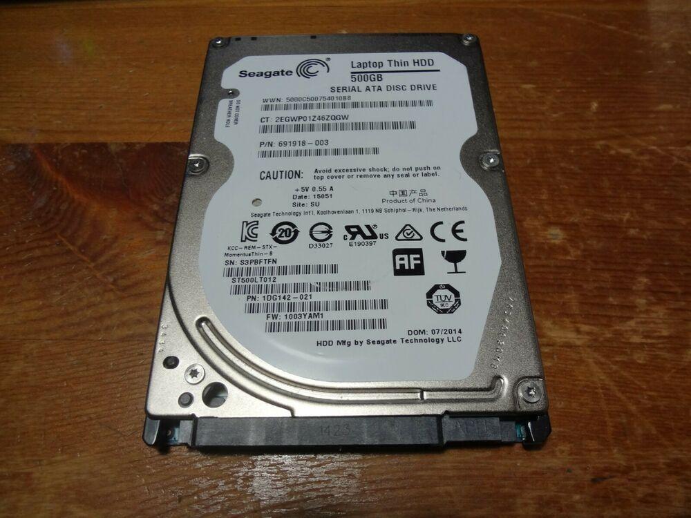 Lot Of 10 500GB SATA 2.5 LAPTOP HARD DRIVES