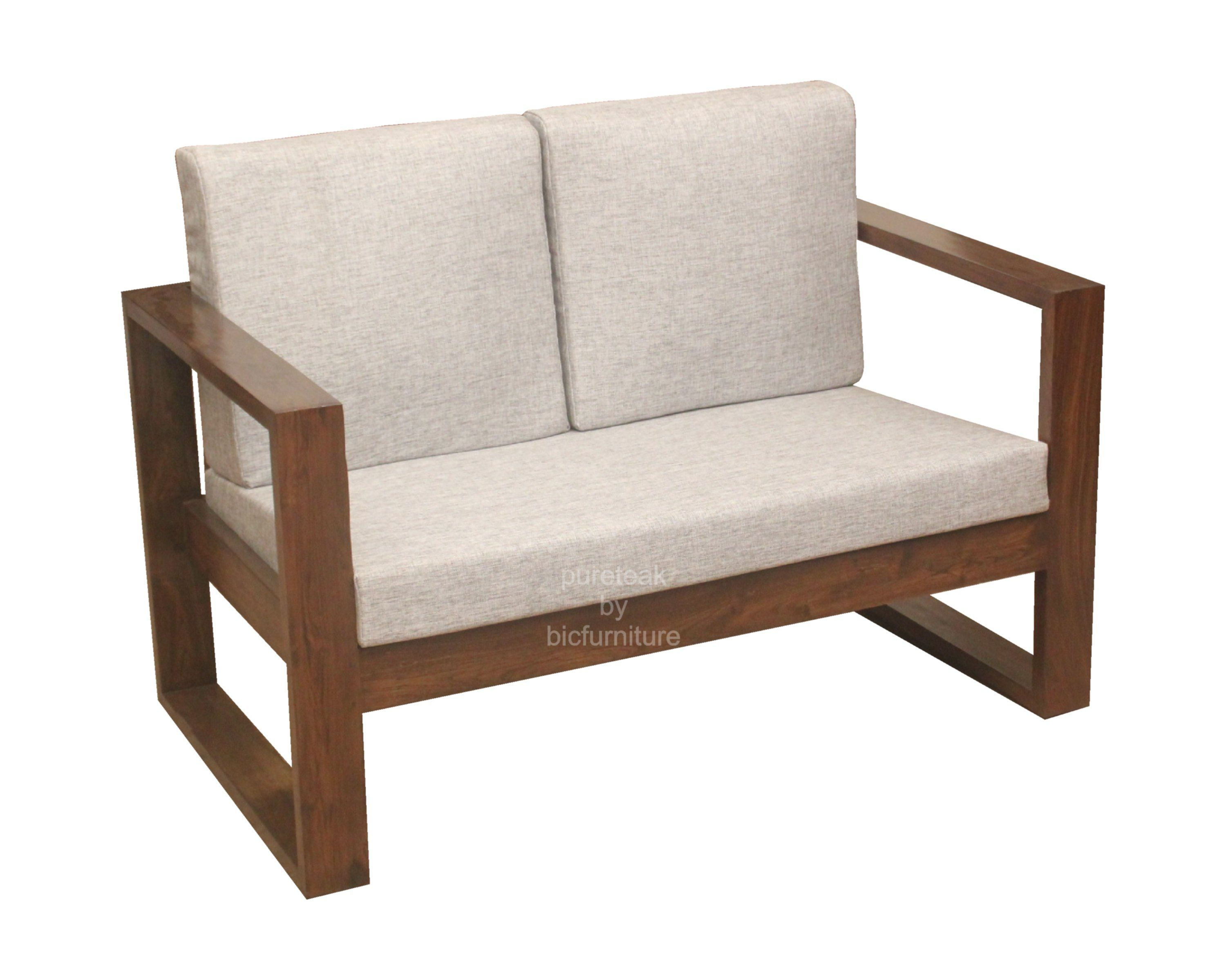 Wooden Sofa Set In Simple Design (Ws 67) Details -
