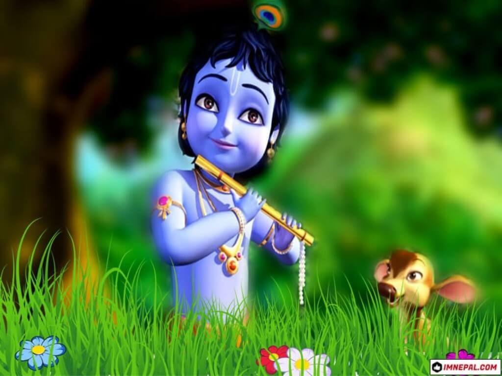 Cartoon Krishna Hd Wallpaper Download