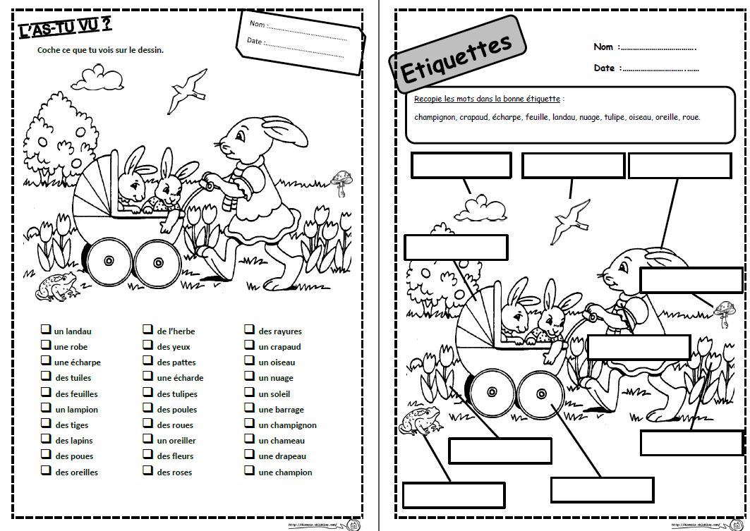 Coloriage De Paques Cycle 2.Mots D Avril Paques Lire Lecture Comprehension Mots Phrases