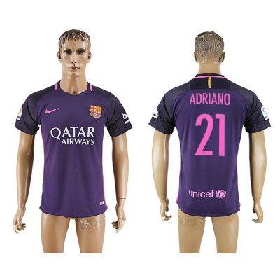 Barcelona 16-17 Adriano 21 Udebane Trøje Kortærmet.  http://www.fodboldsports.com/barcelona-16-17-adriano-21-udebane-troje-kortermet.  #fodboldtrøjer