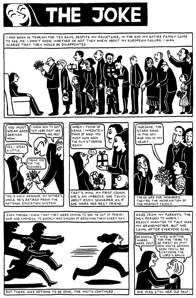 Chapter 11 The Joke From Persepolis 2 The Story Of A Return Graphic Novel Jokes Reading