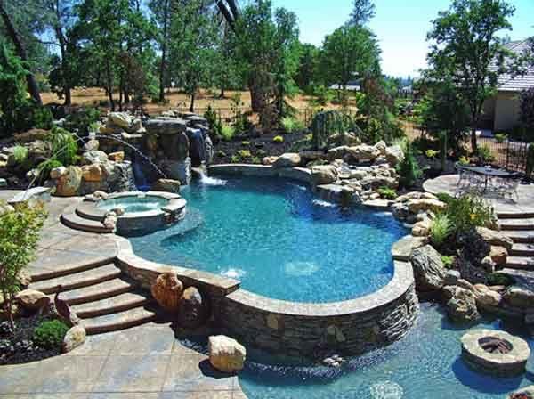 Super piscinas pesquisa google piscinas de sonho - Jardines con piscinas ...